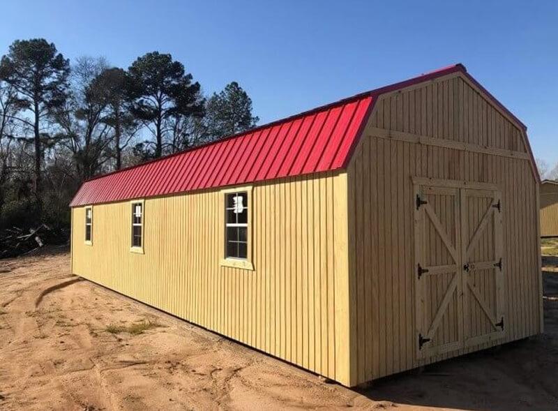 lofted utility barns