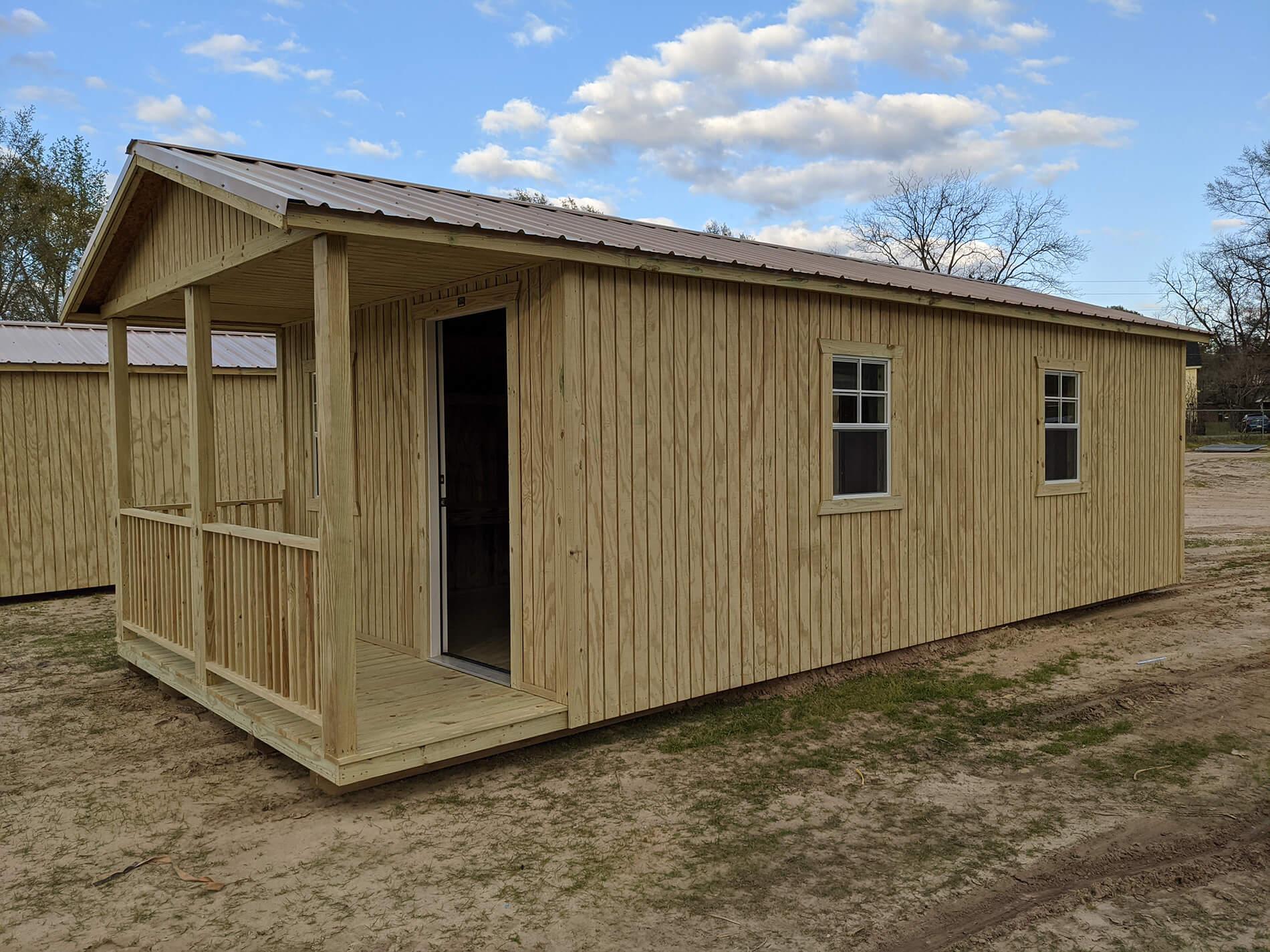 Porch Utility Storage Building