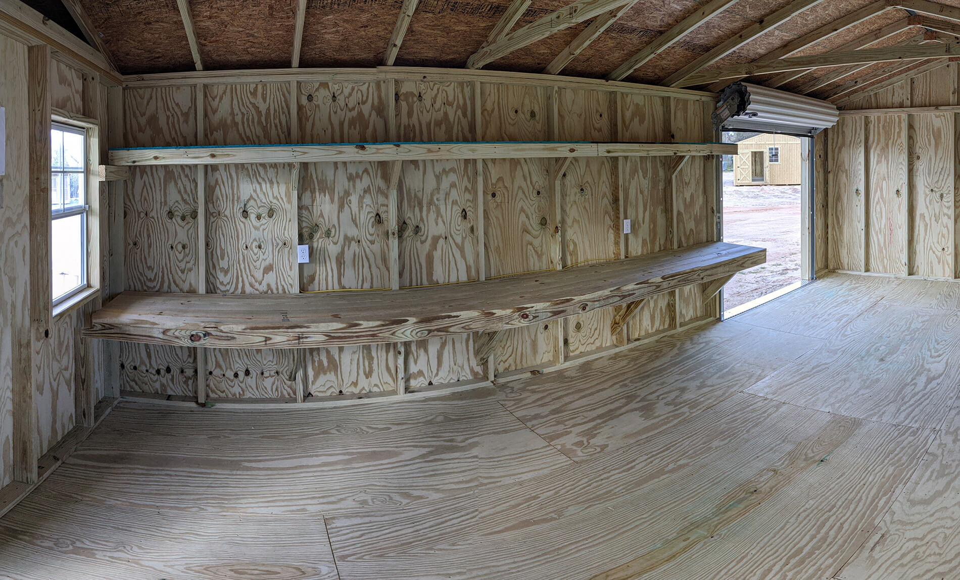 Porch Utility Storage Building Interior
